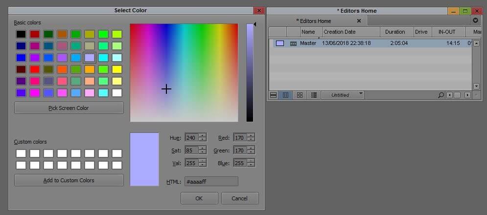 פלטת צבעים מורחבת באויד