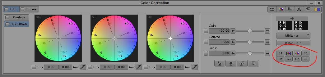 Color Correction Buckets