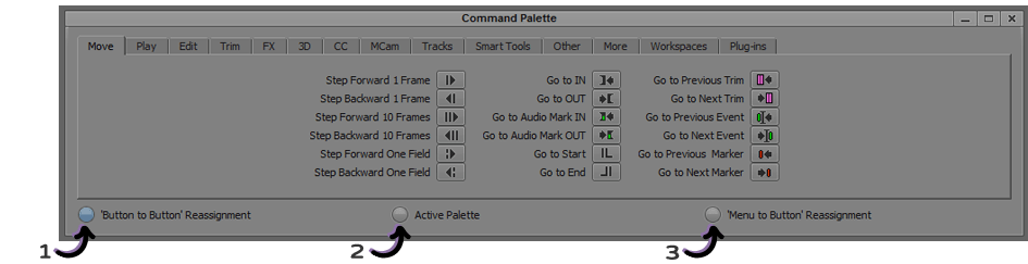 Command Palette - 3 Options