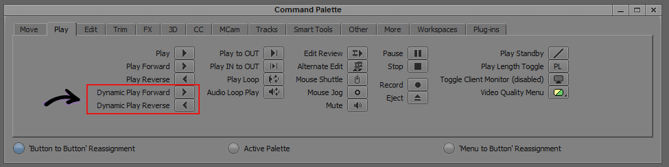 Dynamic play - Command Palette