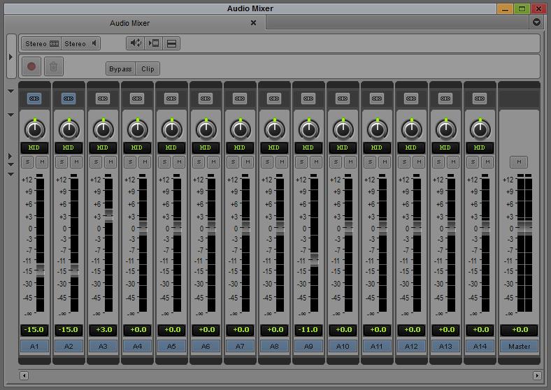 אודיו מיקסר בגרסה המצומצמת שלו