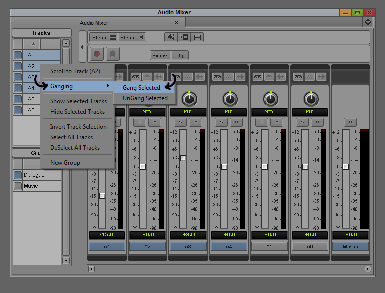 Gang - Avid Audio Mixer
