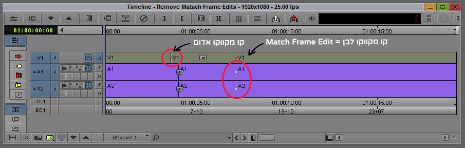Match Frame Edits - Avid