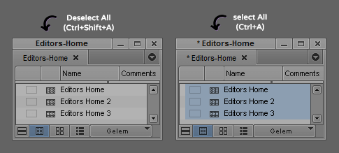 Select-Deselect All - Avid Bin
